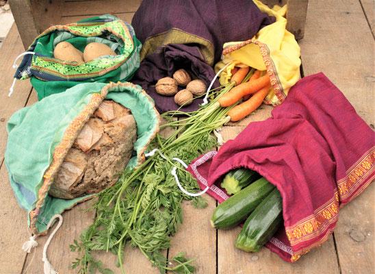 sac à vrac coton coloré