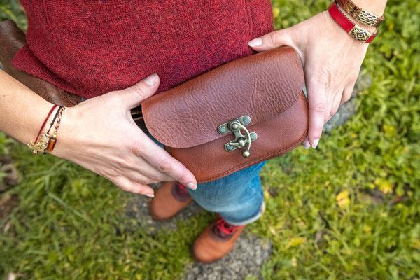 Escarcelle en cuir, pochette de ceinture May Wook