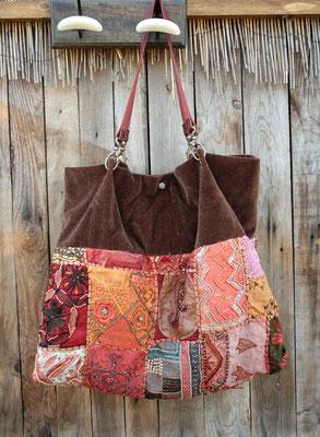 sac tenture gypsy brodée