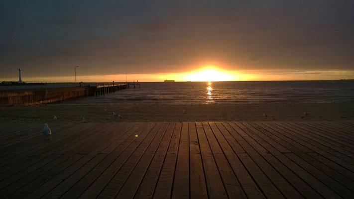...und Sonnenuntergang!
