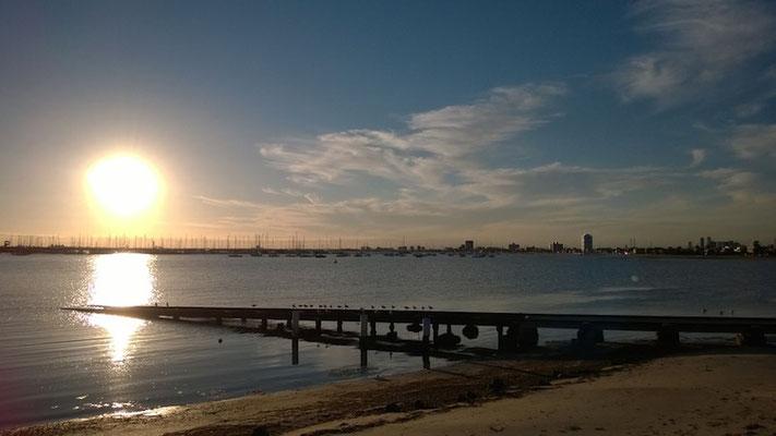 Kleiner Abendspaziergang: vorbei am St. Kilda-Pier...
