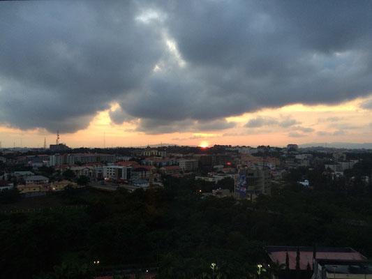 Sonnenaufgang am Donnerstag: mein letzter Tag wartet auf mich! Oder auch nicht...