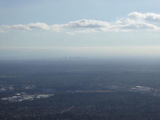 Melbournes Skyline am Horizont