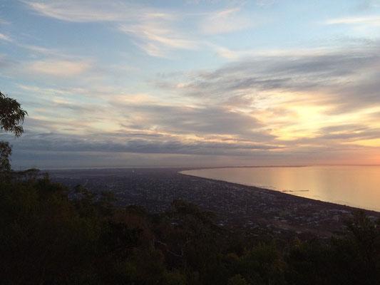 Blick über die Mornington Peninsula Richtung Point Nepean