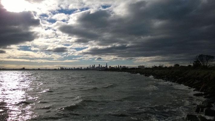 Port Phillip Bay mal stürmisch!