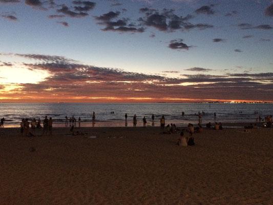 Zurück in St. Kilda n unserem geliebten Strand