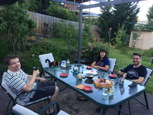 Sylvester, wieder mit Dorothée und Jens