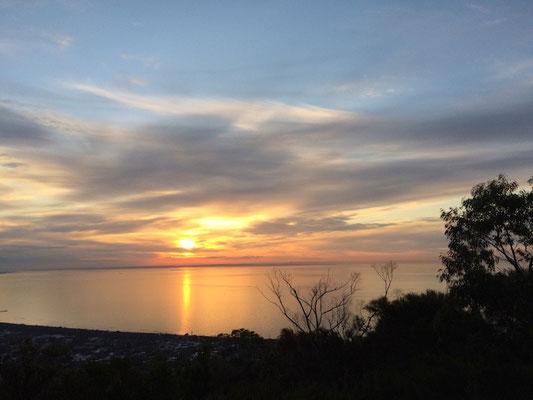 ...wo wir einen fantastischen Sonnenuntergang erlebt haben