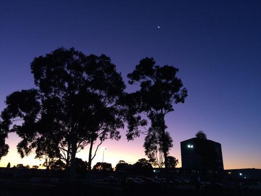 Der Abendhimmel nach der Arbeit war genauso schön wie im Juni!