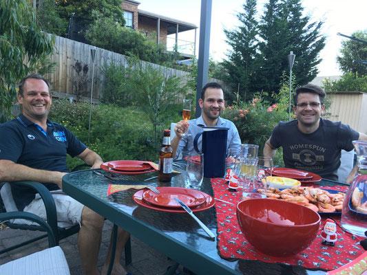 Sehr australisch: BBQ bei Dorothée und Jens