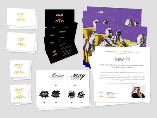 Brand identity - Mi Art Gallery