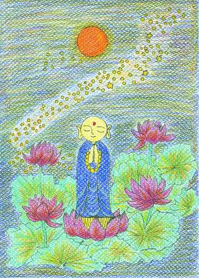 娘さんの美奈さんの作品「清蓮(やすらぎ)地蔵」