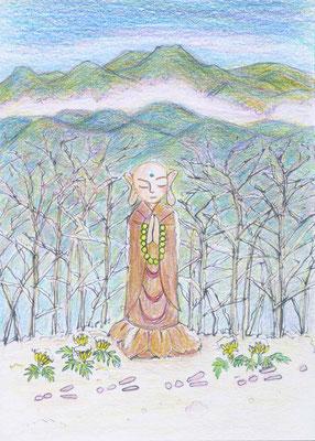 松下智子さんの作品(冬楽地蔵)