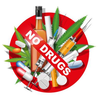 Drogendelikte werden in Myanmar sehr hart bestraft. Ein absolutes No Go!