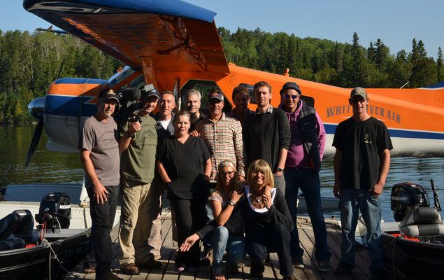 Cast Aways Filmteam und Team Lodge 88, Esnagi Lake Canada