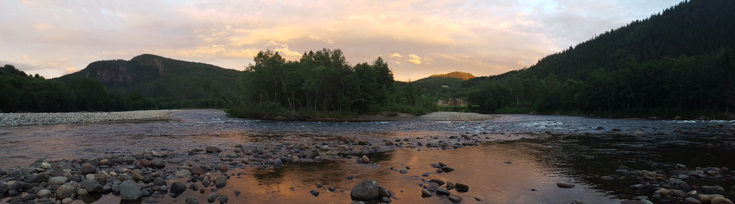 Angeln auf Lachs an der Gaula in Norwegen