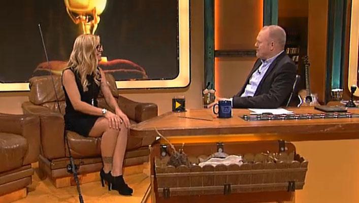 Babs bei TV total auf Pro Sieben.