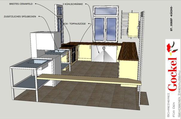 Blick von der Eingangstür zur Küche nach Nord-West