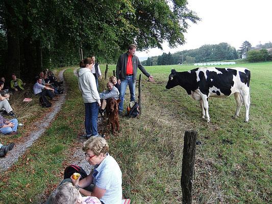 Zwischenrast an der Tente (2014) - Treffen mit der Fußpilgergruppe aus St. Januarius