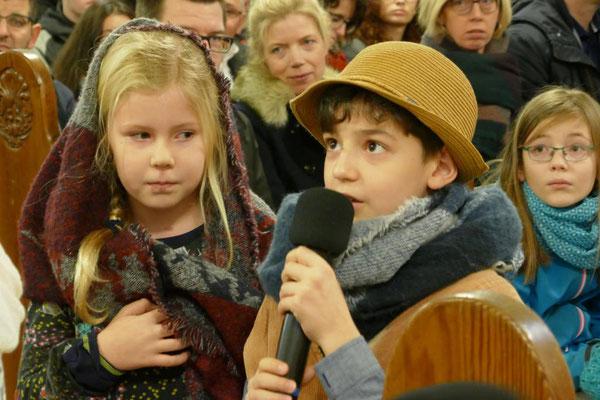 Maria und Josef fragen nach einer Herberge