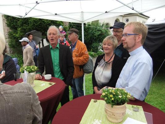 Beim Gemeindefest 2014 mit Bürgermeister Ulli Winkelmann