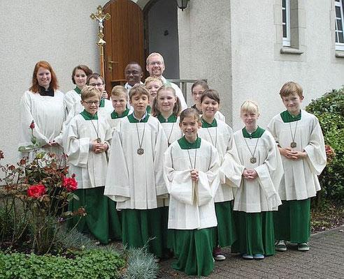 Vor der Sakristei im September 2014