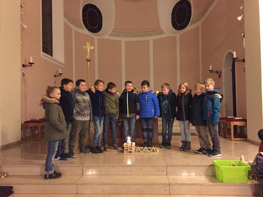 Die zukünftigen Erstkommunionkinder
