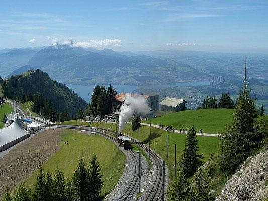 Auf dem Rigi mit Blick zum Vierwaldstätter See, Schweiz