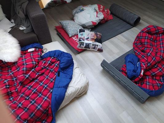Lagerstätten, nur nicht im Bett