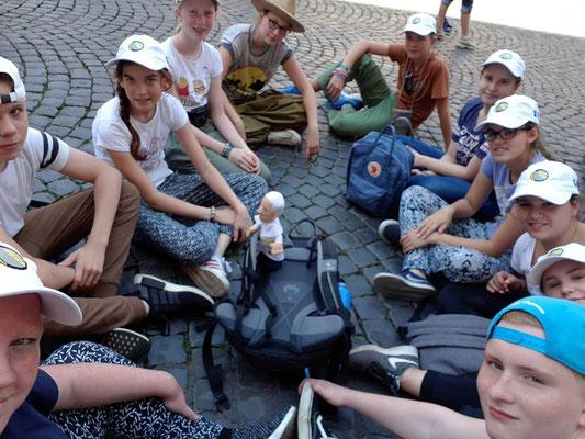 Verschnaufpause auf dem Petersplatz