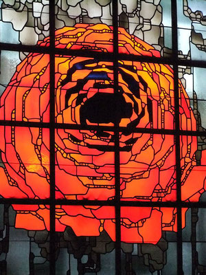 Rose im Kirchenfenster