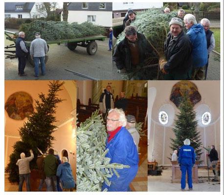 Weihnachtsbaumbeschaffung für die Kirche