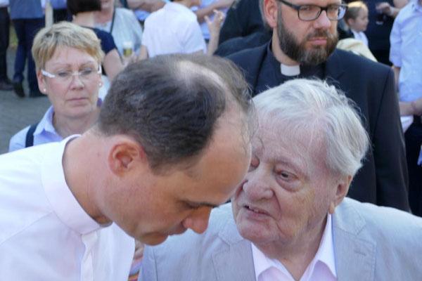 Holger Schmitz mit seinem Vater