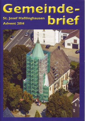 Titelseite unseres letzten Gemeindebriefes 2014
