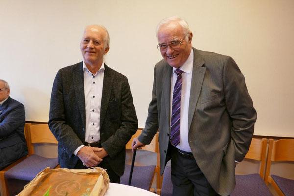 Bürgermeister von Sprockhövel, Ulli Winkelmann (li.), und Wolfgang Surhof aus Bochum