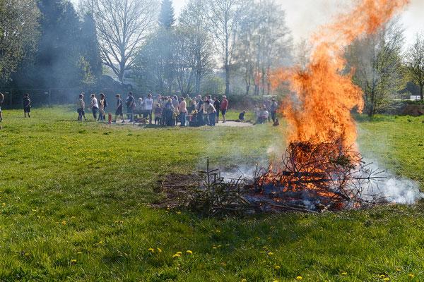 Osterfeuer der Pfadfinder