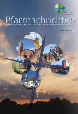 Die erste Ausgabe der Pfarrnachrichten: Monat November 2017