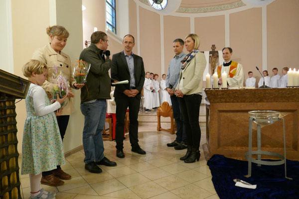 Eltern danken den Katecheten für ihre ehrenamtlich geleistete Arbeit