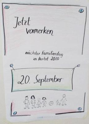 Terminhinweis auf den nächsten Familientag 2010
