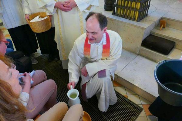 Bei der Fußwaschung