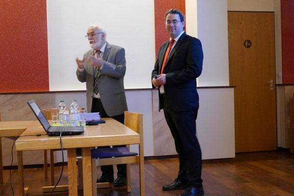 Die Referenten des Abends Hubertus und Ronald Mayer