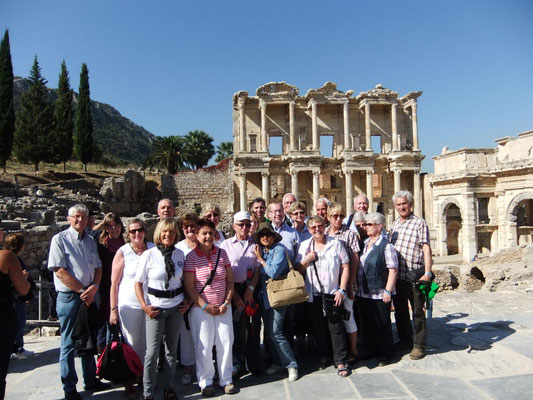Pilgergruppe in Ephesus (Türkei)