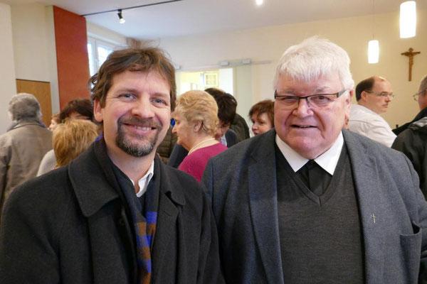 Probst Norbert Dudek von St. Marien in Schwelm und der ehem. Pfarrer von St. Marien, Prälat Dietmar Janoussek
