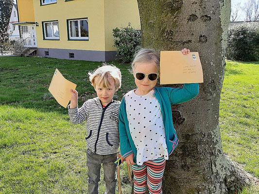 Die Post ist fertig - ab zum Briefkasten