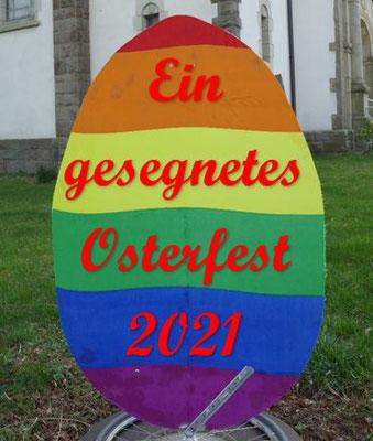 Ei mit Gruß zum Osterfest 2021