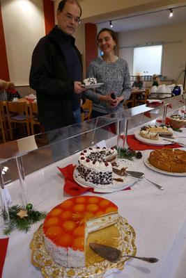 Leckere Kuchen laden ein zum Verzehr