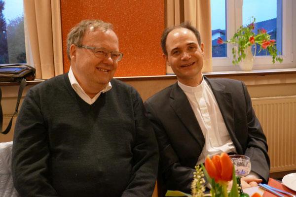 Diakon Thomas Becker und Pfarrer Holger Schmitz