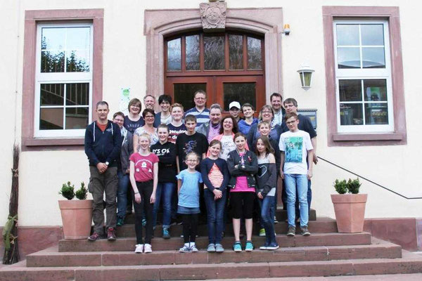 Familienferiengruppe im Jahr 2018 in Worms