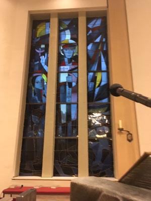 Kirchenfenster mit St. Augustinus und Monika