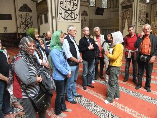 In der Ulu Cami Moschee in Bursa (Türkei)